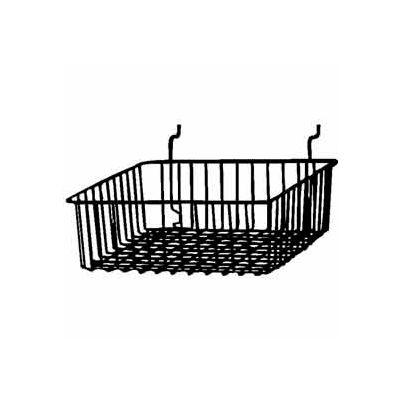 """12""""W X 12""""D X 4""""H Small Basket - Semi-Gloss Black - Pkg Qty 6"""