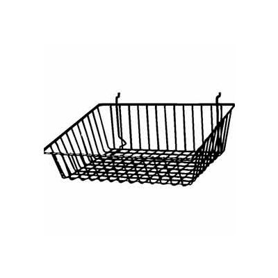 "15""W X 12""D X 5""H Sloping Basket - Semi-Gloss Black - Pkg Qty 6"