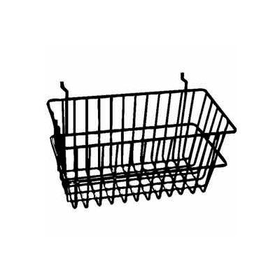 """12""""W X 6""""D X 6""""H Narrow Basket - Semi-Gloss Black - Pkg Qty 6"""