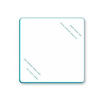 """Tempered Glass For Cubbies - 12""""W x 12""""H - Pkg Qty 10"""