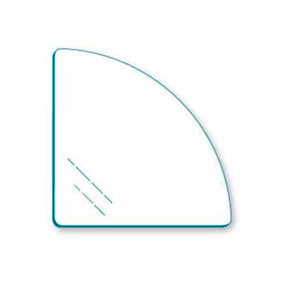 "Tempered 14"" Quarter Round Glass For Cubbies - Pkg Qty 10"
