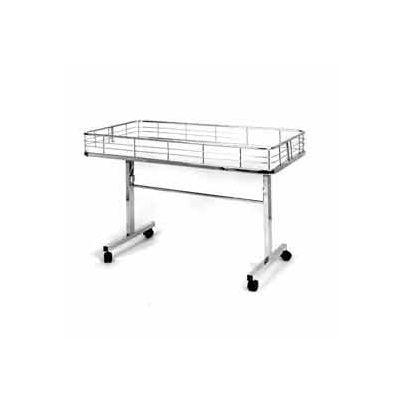 "Folding Dump Table 47""L x 23-1/2""W x 31""H - Semi-Gloss White"