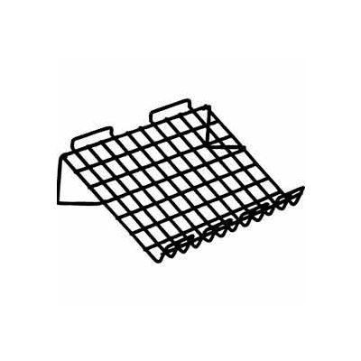 "Sloping Shelf W/ 3"" Lip - Semi-Gloss Black - Pkg Qty 6"