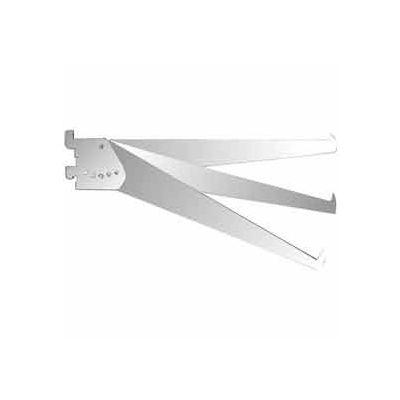 "10"" Adjustable Tap-In Style Shelf Bracket - Chrome - Pkg Qty 25"