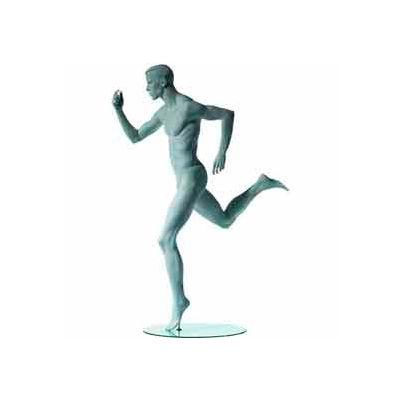 Male Sprinter w/ Right Leg Back - Cameo White