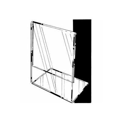 """7""""W X 5-1/2""""H Acrylic Sign Holder Horizontal – Slantback For Counter Top - Clear - Pkg Qty 24"""