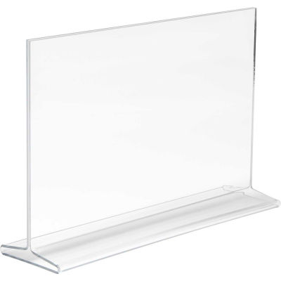"Econoco, Horizontal Top Load Sign Holder, HPCT711HTP, 11""W x 7""H, Clear Acrylic - Pkg Qty 24"