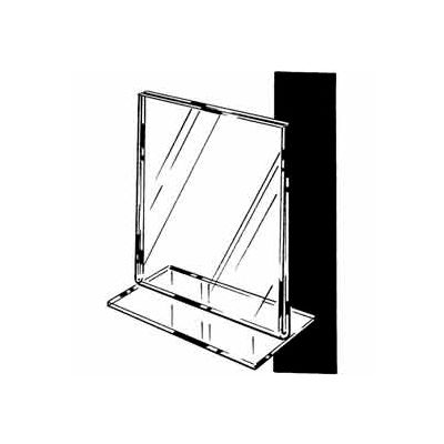 "7""W X 11""H Acrylic Sign Holder Top Load Counter Top - Clear - Pkg Qty 24"