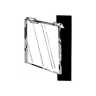 "11""W X 8-1/2""H Acrylic Horizontal For Slatwall/Gridwall - Clear - Pkg Qty 24"