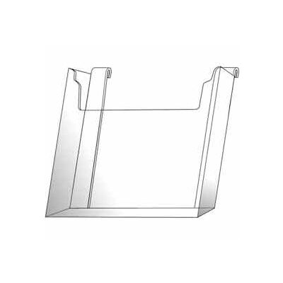 "8-1/2""W X 11""H Acrylic Gridwall Literature Holder - Clear - Pkg Qty 12"