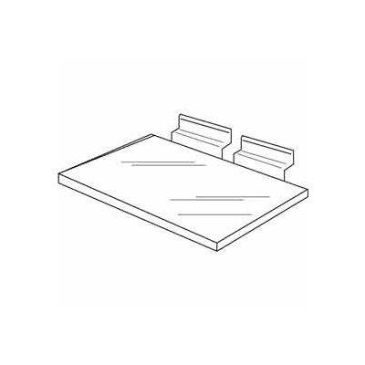 "12""W x 6""D Injection Molded Styrene Utility Shelf - Clear - Pkg Qty 100"