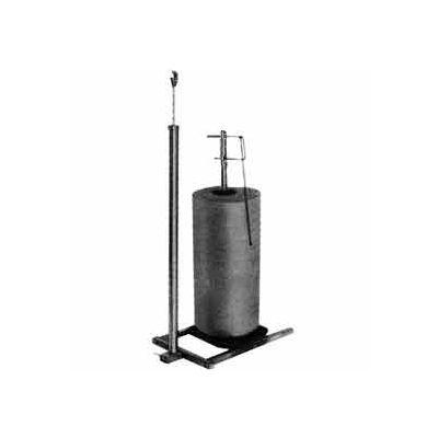 1 Roll Polyethylene Vertical Dispensing Rack - Square Tubing - Chrome