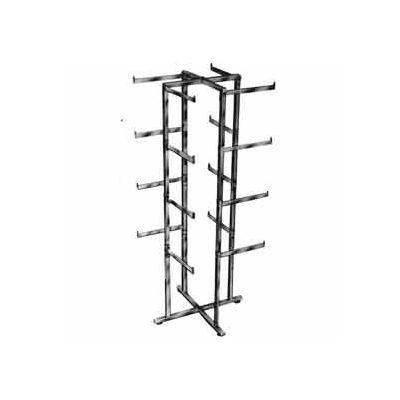 Folding Lingerie Tower - Square Tubing w/ Rectangular Tubular Arms (K36) Garment Rack - Chrome