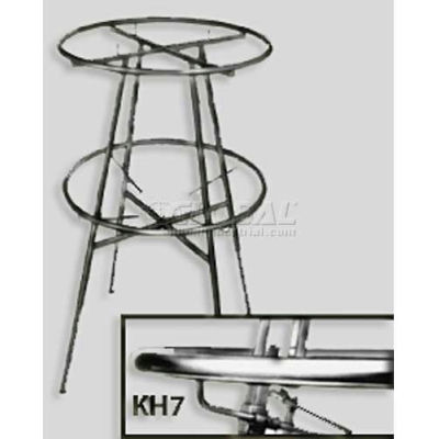Set Of 4 Adjustable Clamps For Double Hanging Round Garment Racks - Chrome - Pkg Qty 5