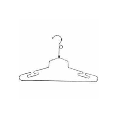 "16"" L Steel Lingerie Hanger W/ Loop Hook - Chrome - Pkg Qty 100"