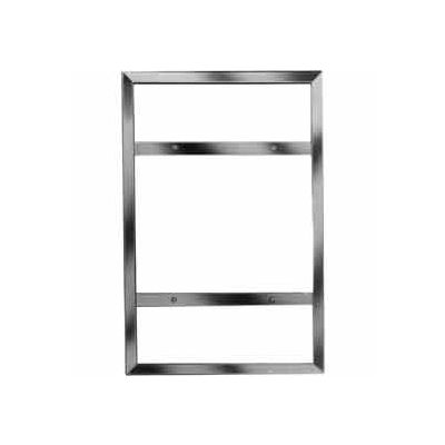 "28""H X 22""W Vertical Sign Holder For Wall Mount - Chrome - Pkg Qty 6"
