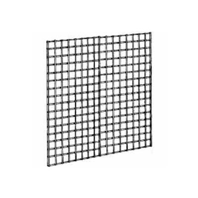 4'W X 4'H - Wire Grid Wall Panel - Semi-Gloss Black - Pkg Qty 3