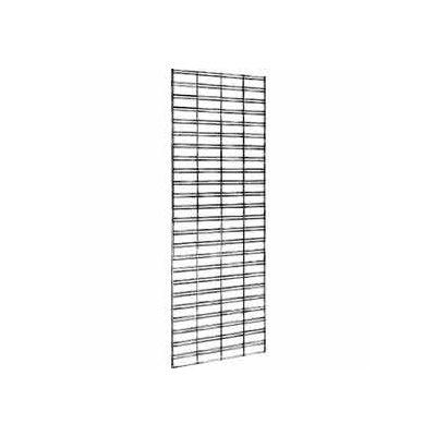 2'W X 6'H - Slatgrid Panel - Semi-Gloss Black - Pkg Qty 3