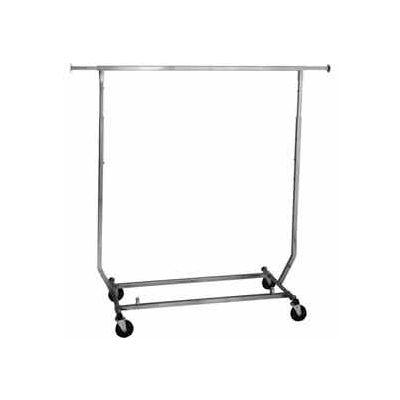 Salesman's Portable Garment Rack - Collapsible RCS/2 - Heavy Duty Round Tubing - Chrome