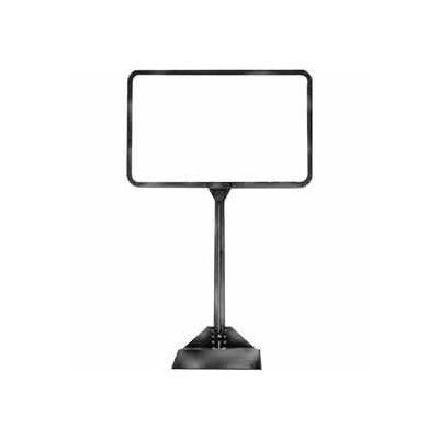 "7""W X 5-1/2""H Sign Holder W/ Shovel Base - Chrome - Pkg Qty 30"