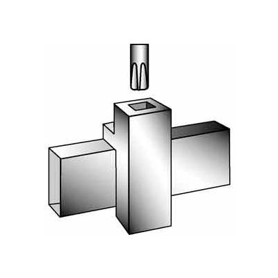 """Patented Magnetized Clamp W/ 3/8"""" Swedged Fitting - Chrome - Pkg Qty 100"""