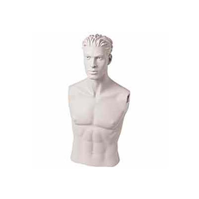 Male Bust w/ Head - Size 40 - White