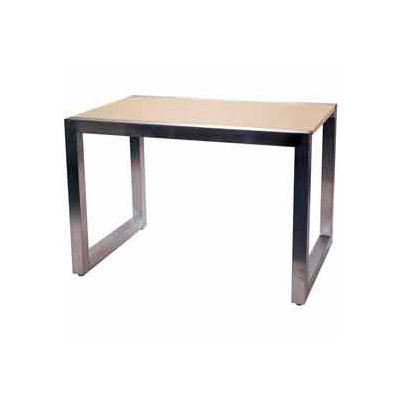 Large Display Table - Frame Only - Satin Chrome