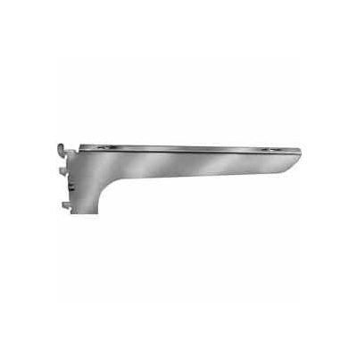 "14"" Right Wood Shelf Bracket - Satin Zinc - Pkg Qty 25"