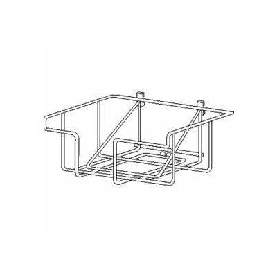 Wire Literature Basket For Bulletin Sign Holder - Chrome - Pkg Qty 6