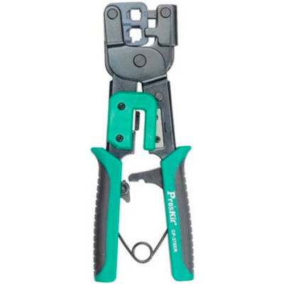 Eclipse Tools 300-063 Ratcheted Modular Plug Crimper, For Use W/6 & 8 Position Plugs, Gray/Blue