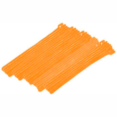 "Eclipse Tools 900-098-OR Cable Tie, Hook Tape, 8""L x 1/2""W, Orange, 25/Pk"