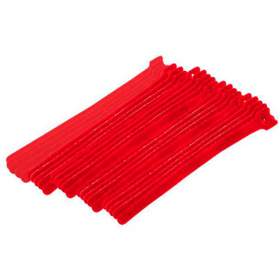 """Eclipse Tools 900-098-RD Cable Tie, Hook Tape, 8""""L x 1/2""""W, Red, 25/Pk"""