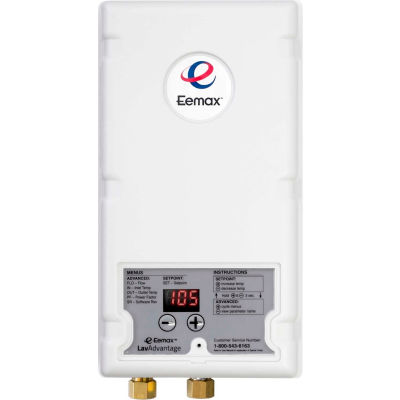 Eemax SPEX90T Electric Tankless Water Heater, Flo-Controlled Point Of Use 9.0KW 277V 33A