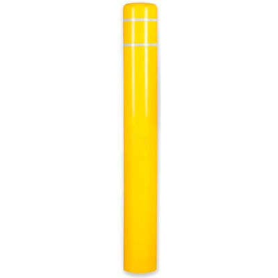 "Post Guard® Bollard Cover 3507N, 10-7/8""Dia. X 60""H, Yellow W/No Tape"