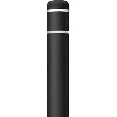 "Post Guard® Bollard Cover CL1385QQ64, 4-1/2""Dia. X 64""H, Black W/No Tape"