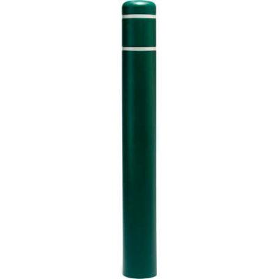 "Post Guard® Bollard Cover CL1385SNT, 4-1/2""Dia. X 52""H, Green W/No Tape"
