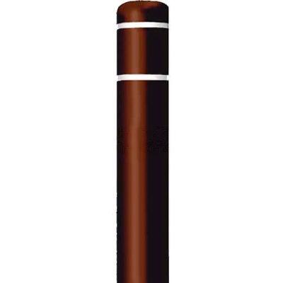 "Post Guard® Bollard Cover CL1385UNT, 4-1/2""Dia. X 52""H, Brown W/No Tape"