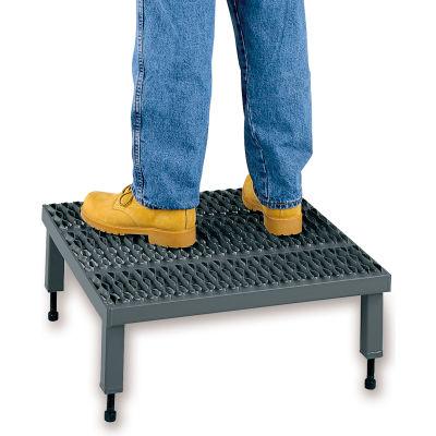 """EGA Steel 1-Step Platform, 24"""" x 48"""", 5""""-8"""" Adjustable Height, 500 lb. Cap. - AHW-L-2448"""