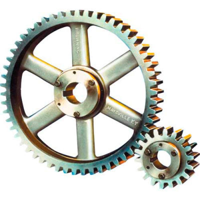 14-1/2 Pressure Angle, 10 Diametral Pitch, 72 Tooth Bushed Spur Gear