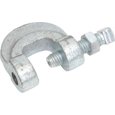 C Clamp Mi W/Ln Galvanized 3/8""