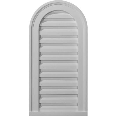 """Ekena Cathedral Gable Vent Louver GVCA14X32F, 14""""W x 32""""H, Functional"""
