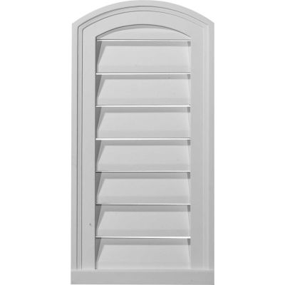 "Ekena Eyebrow Gable Vent Louver GVEY18X20D, 18""W x 20""H, Decorative"