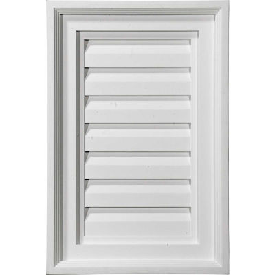 "Ekena Vertical Gable Vent Louver GVVE12X18D, 12""W x 18""H, Decorative"