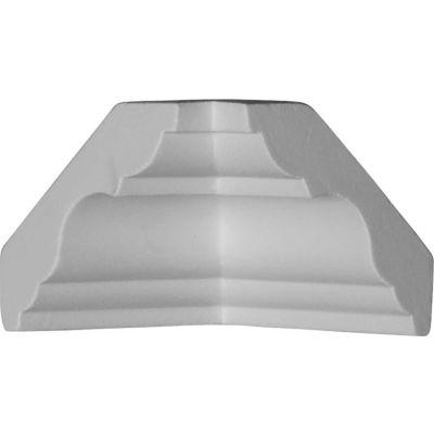 """Ekena Inside Corner For Moulding MLD03X03X04PA MIC03X03PA, 3""""D x 3""""H"""
