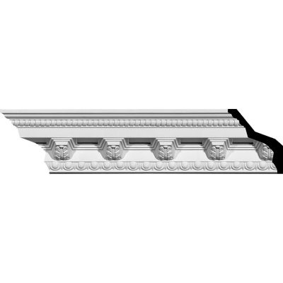 "Ekena Attica Crown Moulding MLD03X03X05AT, 3-7/8""H x 3-5/8""D x 5-3/8""F x 94-1/2""L"
