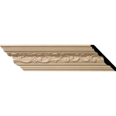 "Ekena Medway Carved Wood Crown Moulding MLD04X04X06MEAL, 4-3/4""H x 4-7/8""D x 6-3/4""F x 96""L"