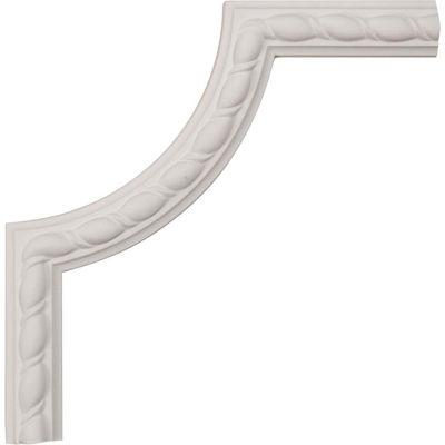"Ekena Bulwark Rope Panel Moulding Corner PML08X08BU, 8""W x 8""H x 5/8""D"
