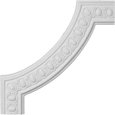 "Ekena Caputo Egg & Dart Panel Moulding Corner PML16X16CA, 16-1/8""W x 16-1/8""H"
