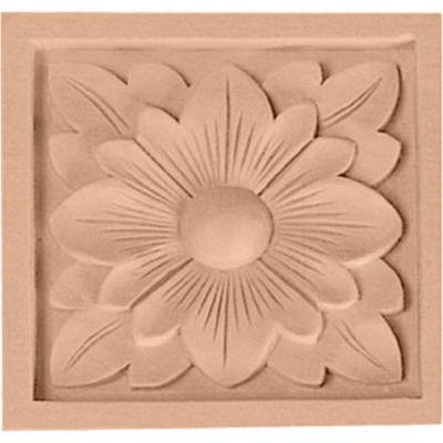 "Ekena Small Dogwood Flower Rosette ROS03X03X00DG, 3""W x 3""H x 5/8""D"