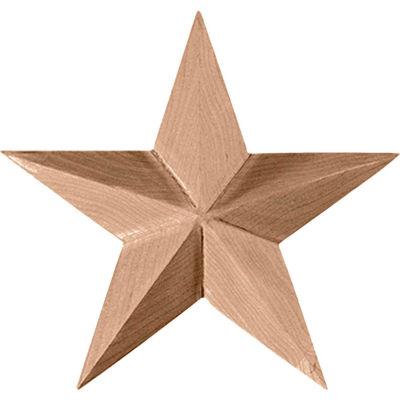 "Ekena Galveston Star Rosette ROS04X04GL, 4-1/8""W x 4-1/8""H x 5/8""D"